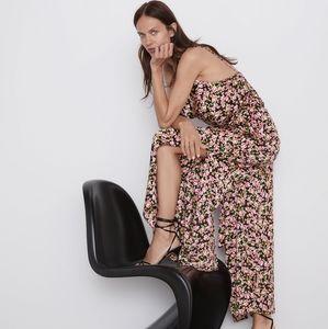 Zara | floral jumpsuit